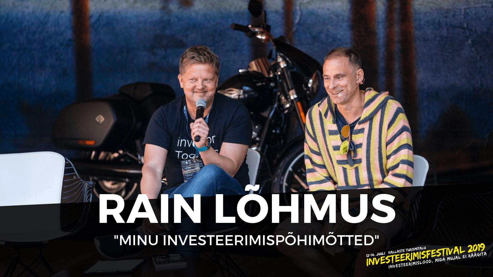 InvesteerimisFestival 2019 - Rain Lõhmus